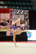 Alessia Leone from Eurogymnica Torino team during the Italian Rhythmic Gymnastics Championship in Bologna, 9 February 2019.
