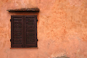 San Gimignano - Monday, May 10 2004:Window shutters. (Photo by Peter Horrell / http://www.peterhorrell.com)