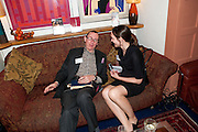 A.N. WILSON; CLAIRE FOX, The Man Booker Best Of Beryl Prize, The Union, 50 Greek Street, London, 19 April 2011. Party celebrates special prize created by the Booker Foundation in honour of the late Beryl Bainbridge who died in July 2010.   -DO NOT ARCHIVE-© Copyright Photograph by Dafydd Jones. 248 Clapham Rd. London SW9 0PZ. Tel 0207 820 0771. www.dafjones.com.