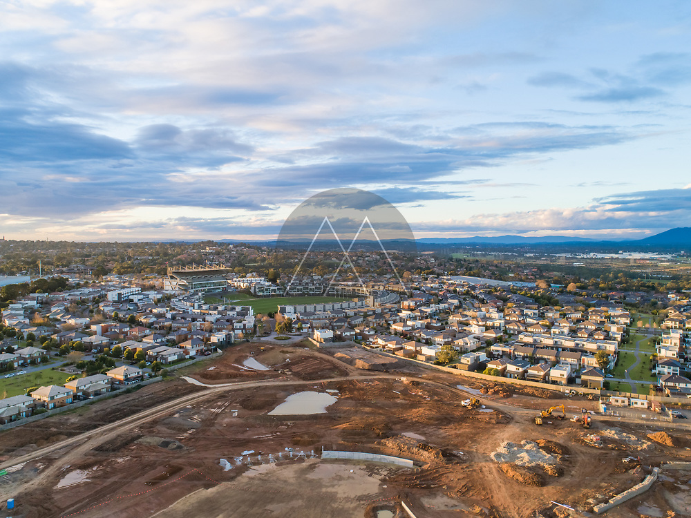 Aerial view of the city, Mulgrave, Victoria, Australia