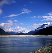 River Dart mountain scenery Glenorchy New Zealand