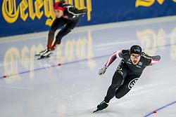 10-11-2017 NED: ISU World Cup, Heerenveen<br /> 500 m men,  Gilmore Junio CAN, Tingyu Gao CHN