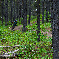 Erica riding 7-27 at Moose Mountain, Alberta Canada riding 7-27 at Moose Mountain, Alberta Canada