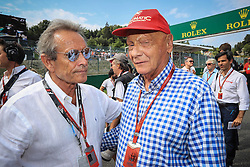 August 28, 2016 - Spa Francorchamps, Belgique - Spa  28/08/2016 GP F1 Belgique/Diamnche/Course/.Jacky Ickx & Niki Lauda (Credit Image: © Panoramic via ZUMA Press)