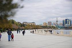 BAKU, AZERBAIJAN - Saturday, November 16, 2019: Baku Boulevard (Dənizkənarı Milli Park) pictured before the UEFA Euro 2020 Qualifying Group E match between Azerbaijan and Wales at the Bakcell Arena. (Pic by David Rawcliffe/Propaganda)
