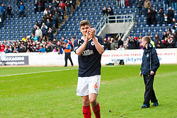 Falkirk's Stewart Murdoch at the end of the last game of the season..Falkirk 4 v 1 Morton, 4/5/2013..© Michael Schofield..