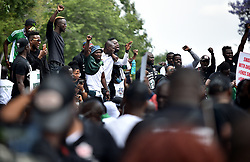 South Africa - Pretoria - 21 October 2020 - Nigerian nationals living in South Africa take to streets of Pretoria to demonstrate against the police unit that had accused of extortion, harassment, torture and murders.<br /> <br /> Picture: Thobile Mathonsi/African News Agency(ANA)
