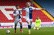 Goal 4-2 Blackburn Rovers midfielder Harvey Elliott (16) scores a goal 4-2 and celebrates during the EFL Sky Bet Championship match between Blackburn Rovers and Birmingham City at Ewood Park, Blackburn, England on 8 May 2021.