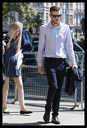 June 19, 2017 - London, London, United Kingdom - Image licensed to i-Images Picture Agency. 19/06/2017. London, United Kingdom. Chris Gard and Connie Yates arriving at the Supreme Court in London as they continue with their legal fight to continue treatment for their 10 month old son Charlie Gard.  Picture by Stephen Lock / i-Images (Credit Image: © Stephen Lock/i-Images via ZUMA Press)
