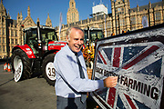 Ian Liddell-Grainger MP at the National Farmers Union NFU took machinery, produce, farmers and staff to Westminster to encourage Members of Parliament to back British farming, post Brexit on 14th September 2016 in London, United Kingdom. MPs were encouraged to sign the NFU's pledge and wear a British wheat and wool pin badge to show their support.