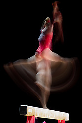 August 2, 2018 - Glasgow, UNITED KINGDOM - 180802 Valeriia Osipova of Ukraine competes at the beam in the women's qualification of Artistic Gymnastics during the European Championships on August 2, 2018 in Glasgow..Photo: Jon Olav Nesvold / BILDBYRÃ…N / kod JE / 160280 (Credit Image: © Jon Olav Nesvold/Bildbyran via ZUMA Press)