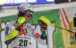 08.01.2019, Hermann Maier Weltcupstrecke, Flachau, AUT, FIS Weltcup Ski Alpin, Slalom, Damen, 2. Lauf, im Bild Nastasia Noens (FRA) // Nastasia Noens of France reacts after her 2nd run of ladie's Slalom of FIS ski alpine world cup at the Hermann Maier Weltcupstrecke in Flachau, Austria on 2019/01/08. EXPA Pictures © 2019, PhotoCredit: EXPA/ Erich Spiess