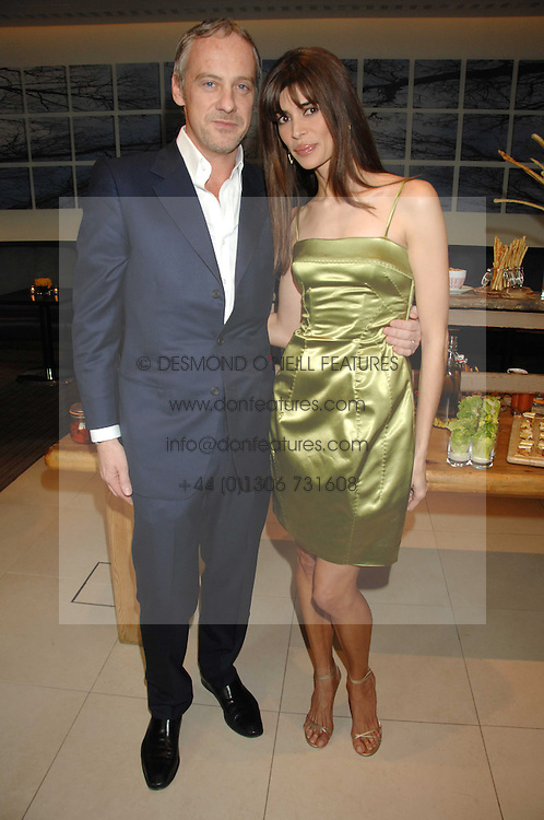 ANTON BILTON and LISA B at a party to celebrate the publication of her book 'Lifestyle Essentials' held at the Cook Book Cafe, Intercontinental Hotel, Park Lane London on 10th April 2008.<br /><br />NON EXCLUSIVE - WORLD RIGHTS