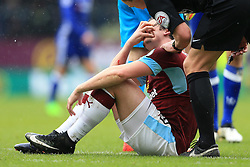12th February 2017 - Premier League - Burnley v Chelsea - Joey Barton of Burnley describes how Diego Costa of Chelsea grabbed his face - Photo: Simon Stacpoole / Offside.