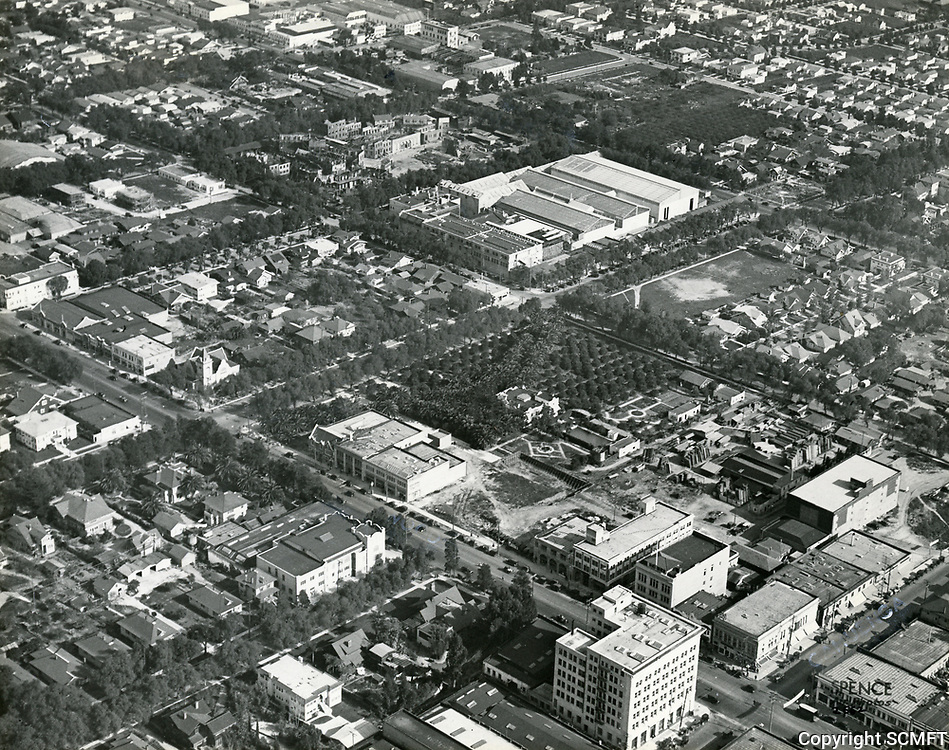 1922 Aerial of Famous Players Lasky Studios