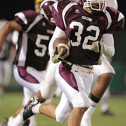 31 October, 2008: St. Thomas Aquinas FS/RB Travis Gregory (#32) The St. Thomas Falcons recorded their first shut out of the season with a 41-0 shutout of the Southern Lab Kittens at Strawberry Stadium in Hammond, LA.