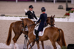 Dujardin Charlotte, GBR, Gio, 133, Werth Isabell, GER, Bella Rose 2, 140<br /> Olympic Games Tokyo 2021<br /> © Hippo Foto - Dirk Caremans<br /> 28/07/2021