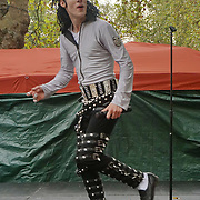 London, UK. 8th October, 2016. Britain's Got More Talent 2016 Rory 'Michael' Jackson Dance preforms at The Tottenham Green Multicultural Festival,London,UK. Photo by See Li