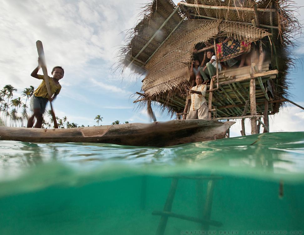 Marita's home. Bamboo stilt houses off Maiga Island.