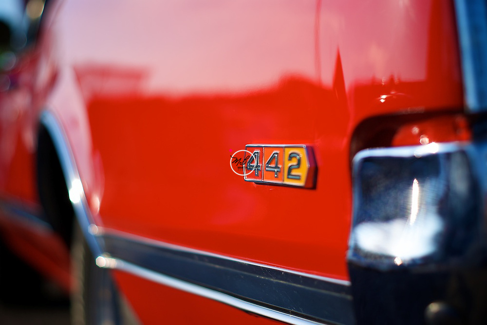 Red Oldsmobile 442 Sixties