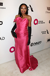 February 24, 2019 - West Hollywood, CA, USA - LOS ANGELES - FEB 24:  Malina Moye at the Elton John Oscar Viewing Party on the West Hollywood Park on February 24, 2019 in West Hollywood, CA (Credit Image: © Kay Blake/ZUMA Wire)
