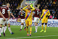 Yohan Cabaye of Crystal Palace reacts to missing a chance to score. Premier League match, Burnley v Crystal Palace at Turf Moor in Burnley , Lancs on Saturday 5th November 2016.<br /> pic by Chris Stading, Andrew Orchard sports photography.