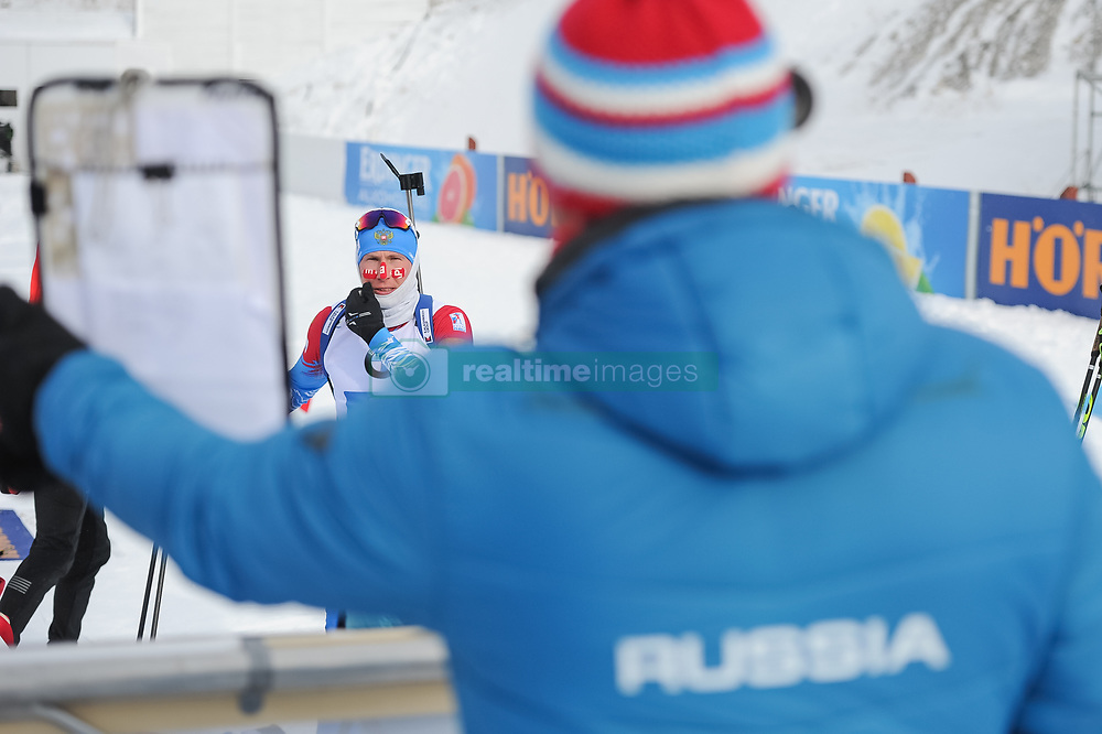 February 8, 2019 - Calgary, Alberta, Canada - Povarnitsyn Alexander warms up before the start of Men's Relay of 7 BMW IBU World Cup Biathlon 2018-2019. Canmore, Canada, 08.02.2019 (Credit Image: © Russian Look via ZUMA Wire)