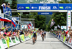 Winner Giovanni Visconti (ITA) of Neri Sottoli Selle Italia KTM celebrates at finish line during 4th Stage of 26th Tour of Slovenia 2019 cycling race between Nova Gorica and Ajdovscina (153,9 km), on June 22, 2019 in Slovenia. Photo by Vid Ponikvar / Sportida