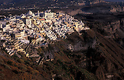Overview of Fira,on the volcanic crater of Santorini.