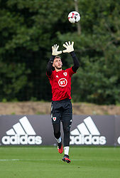 CARDIFF, WALES - Monday, August 31, 2020: Wales' goalkeeper Adam Przybek (Ipswich Town FC) during a training session at the Vale Resort ahead of the UEFA Under-21 Championship Qualifying Round Group 9 match between Bosnia and Herzegovina and Wales. (Pic by David Rawcliffe/Propaganda)