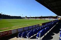 General view inside the Cherry Red Records Stadium  - Mandatory by-line: Alex James/JMP - 08/04/2017 - FOOTBALL - Cherry Red Records Stadium - Kingston upon Thames, England - AFC Wimbledon v Bristol Rovers - Sky Bet League One