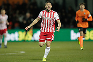 Brentford forward Neal Maupay (9) chasing the ball during The FA Cup fourth round match between Barnet and Brentford at The Hive Stadium, London, England on 28 January 2019.