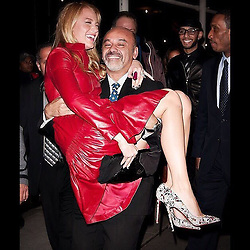 """Blake Lively releases a photo on Instagram with the following caption: """"Happy Birthday @louboutinworld ...We\u2019re gonna have to find a more efficient way to get around town."""". Photo Credit: Instagram *** No USA Distribution *** For Editorial Use Only *** Not to be Published in Books or Photo Books ***  Please note: Fees charged by the agency are for the agency's services only, and do not, nor are they intended to, convey to the user any ownership of Copyright or License in the material. The agency does not claim any ownership including but not limited to Copyright or License in the attached material. By publishing this material you expressly agree to indemnify and to hold the agency and its directors, shareholders and employees harmless from any loss, claims, damages, demands, expenses (including legal fees), or any causes of action or allegation against the agency arising out of or connected in any way with publication of the material."""