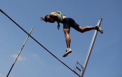 George Heppinstall in the pole vault during the Loughborough International Athletics Meeting at the Paula Radcliffe Stadium, Loughborough.