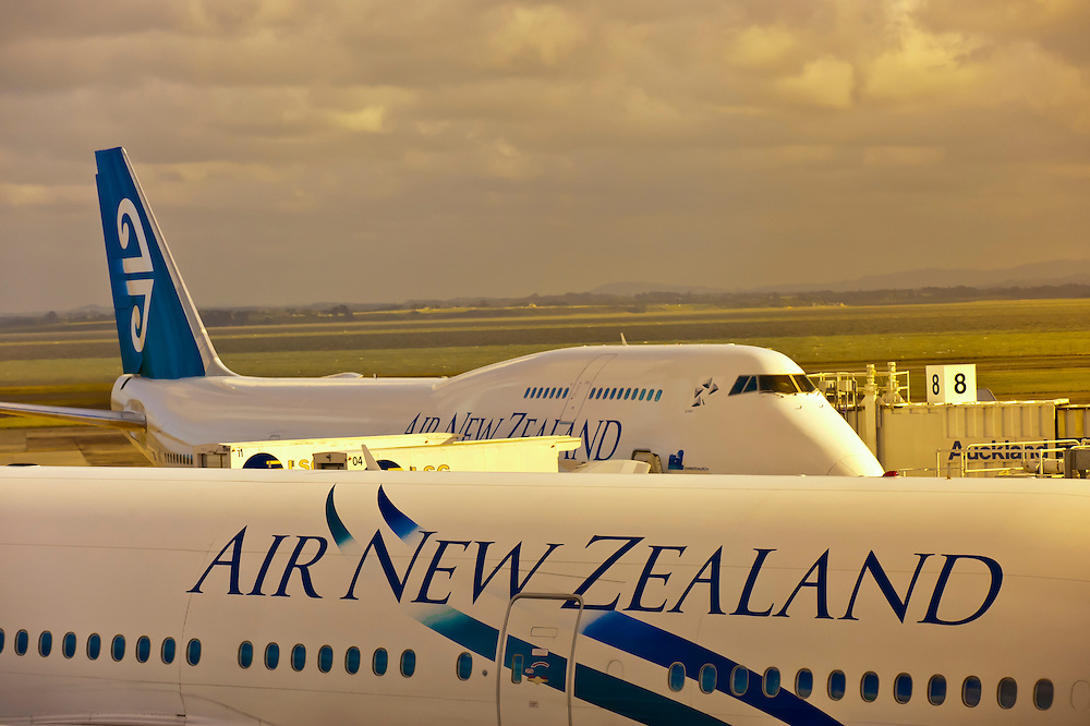 Air New Zealand jets, Auckland Airport, Auckland, New Zealand