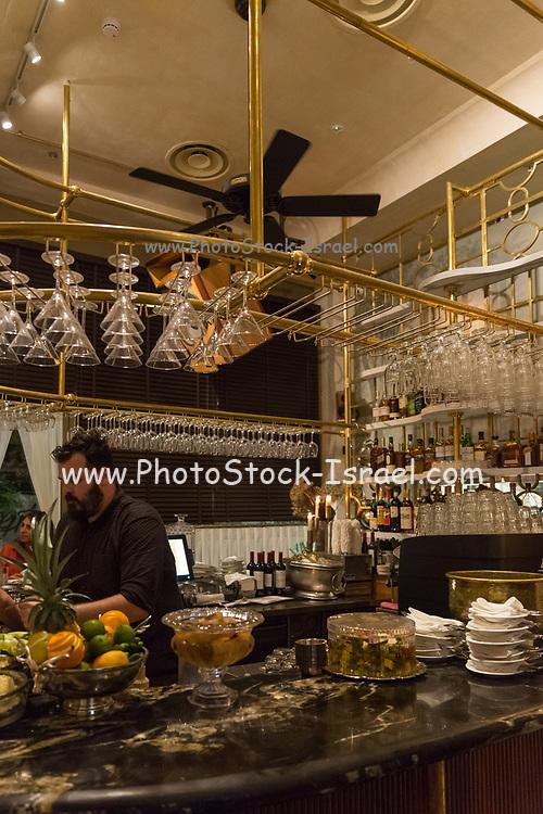 Lifestyle concept. An atmospheric, posh restaurant