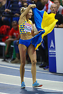 Olga Saladukha (Ukraine) Women's Triple Jump, Bronze Medal, during the European Athletics Indoor Championships at Emirates Arena, Glasgow, United Kingdom on 3 March 2019.