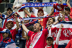 June 22, 2018 - Sankt Petersburg, Russia - 180622 Fans of Costa Rica ahead of the FIFA World Cup group stage match between Brazil and Costa Rica on June 22, 2018 in Sankt Petersburg..Photo: Petter Arvidson / BILDBYRÃ…N / kod PA / 92075 (Credit Image: © Petter Arvidson/Bildbyran via ZUMA Press)