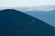 Hverfjall (Hverfell) near lake Myvatn in Iceland.