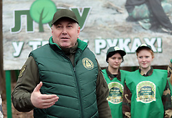 March 21, 2019 - Kyiv Region, Ukraine - Deputy Head of the State Agency for Forest Resources of Ukraine Volodymyr Bondar takes part in the whole Ukrainian campaign The Future of the Forest is in Your Hands at the territory of Nebelytsia forestry department of the Makarivske Forestry SOE, Kyiv region, March 21, 2019. Ukrinform. /VVB/ (Credit Image: © Hennadii Minchenko/Ukrinform via ZUMA Wire)