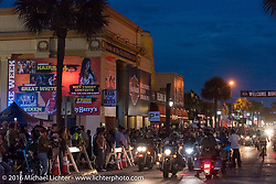Harley-Davidson were major sponsors of the Full Moon Saloon, the Bank and Dirty Harry's on Main Street during Daytona Bike Week's 75th Anniversary event. FL, USA. Saturday March 12, 2016.  Photography ©2016 Michael Lichter.
