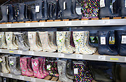 Wellington boots on sale in shop