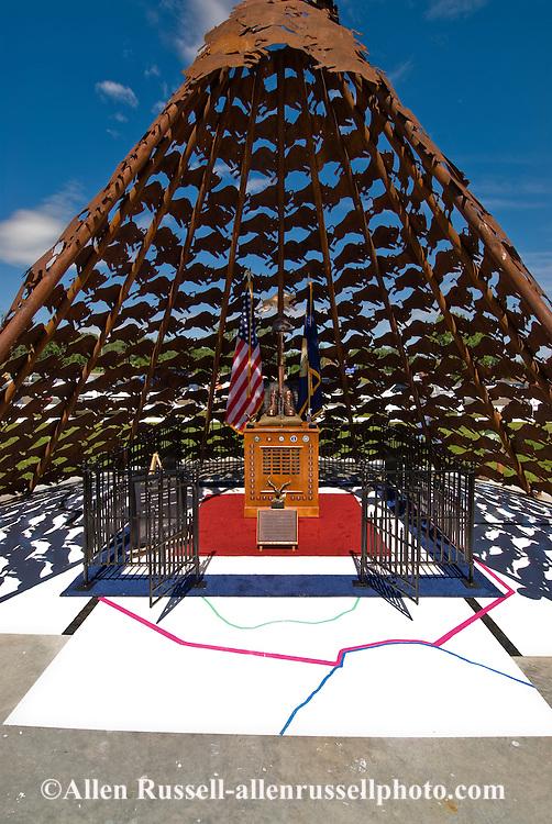 Veterans Memorial at Veterans Park in Crow Agency, Montana, Crow Indian Reservation