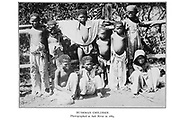Bushman Children Photographed in Salt River in 1884 From the book '  Specimens of Bushman folklore ' by Bleek, W. H. I. (Wilhelm Heinrich Immanuel), Lloyd, Lucy Catherine, Theal, George McCall, 1837-1919 Published in London by  G. Allen & Company, ltd. in 1911. The San peoples (also Saan), or Bushmen, are members of various Khoe, Tuu, or Kx'a-speaking indigenous hunter-gatherer groups that are the first nations of Southern Africa, and whose territories span Botswana, Namibia, Angola, Zambia, Zimbabwe, Lesotho and South Africa.