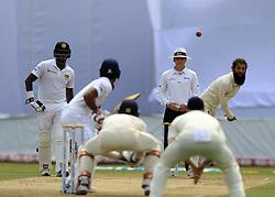November 7, 2018 - Galle, Sri Lanka - England cricketer Moeen Ali  delivers a ball during the 2nd day's play of the first test cricket match between Sri Lanka and England at Galle International cricket stadium, Galle, Sri Lanka. 11-07-2018  (Credit Image: © Tharaka Basnayaka/NurPhoto via ZUMA Press)