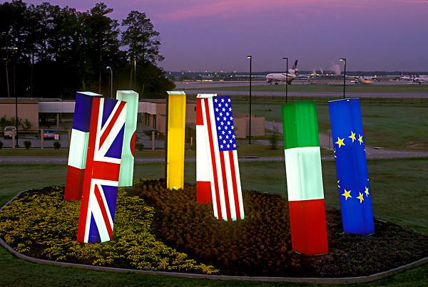 Light Spikes at Bush Intercontinental Airport
