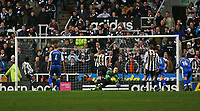 Photo: Andrew Unwin.<br /> Newcastle United v Reading. The Barclays Premiership. 06/12/2006.<br /> Newcastle's Obafemi Martins (L) scores his team's second goal from the penalty spot.