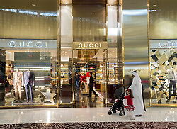 Gucci store in Dubai Mall in Dubai in United Arab Emirates