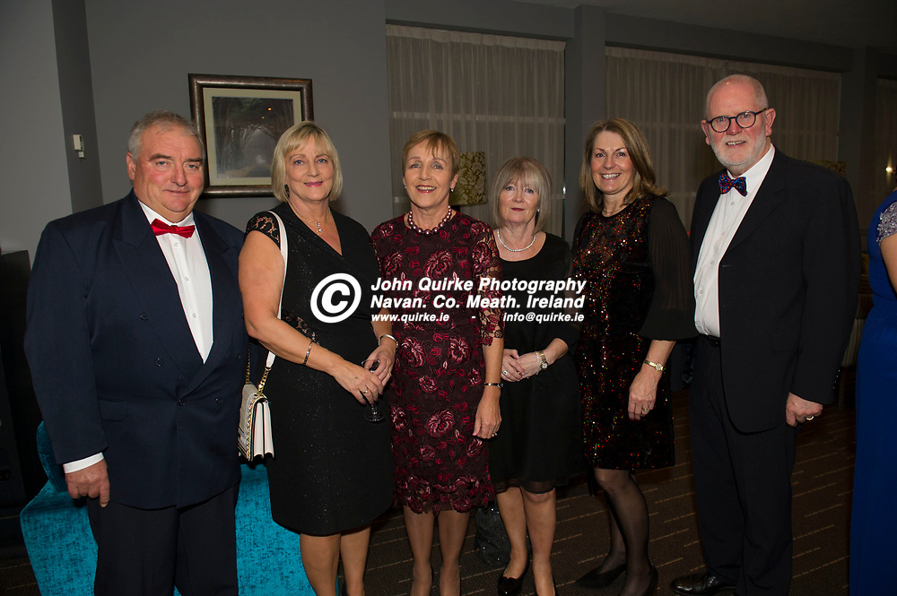 15-11-19. Meath Business and Tourism Awards 2019 at Dunboyne Castle, Hotel.<br /> L to R: Alan O'Neill, Susan O'Neill, Lauren Flood, Mary Lube, Berna Hatton and Philip Flood, Alltech.<br /> John Quirke / www.quirke.ie<br /> ©John Quirke Photography, Unit 17, Blackcastle Shopping Cte. Navan. Co. Meath. 046-9079044 / 087-2579454.