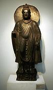 Buddha. Stone statue from Gandhara. 2nd century AD. Delhi Museum